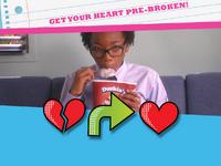 Heart pre-broken emoticon