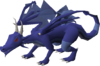 Brutal blue dragon