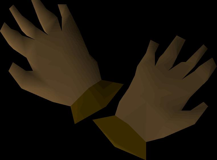 Bronze gloves detail