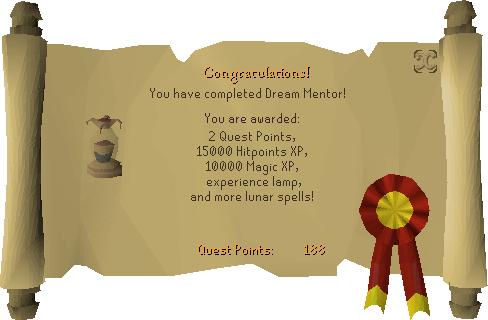 Dream Mentor reward scroll