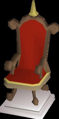 Mahogany throne built