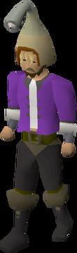Healer hat equipped