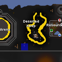 Hot cold clue - SW of Deserted Keep map
