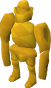 Rock golem (gold) pet
