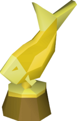Fishing trophy detail