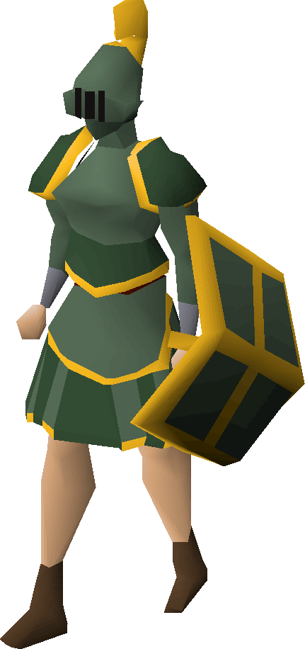 Adamant gold-trimmed set (sk) equipped