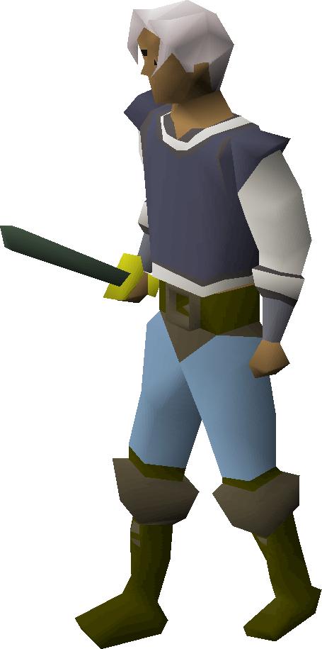 Adamant sword equipped