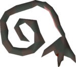 Odd stuffed snake detail