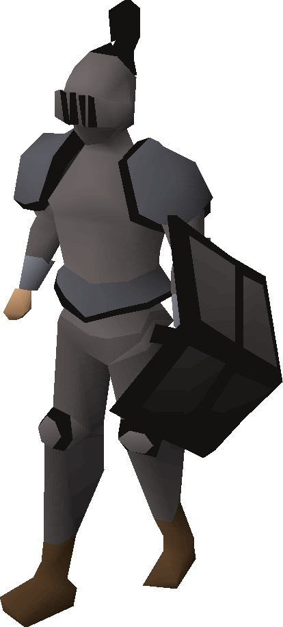 Iron trimmed set (lg) equipped