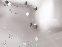 Cryptic clue - dig icy path