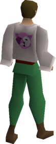 Bob's purple shirt equipped