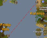 Ogre boat ride path