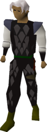 Black d'hide armour equipped