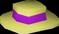 Purple boater detail