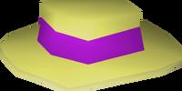 Purple boater