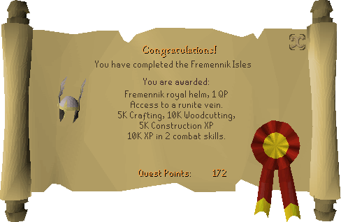 The Fremennik Isles reward scroll
