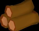 Redwood logs detail