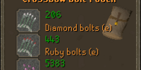 Bolt pouch