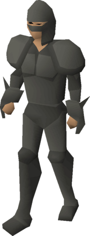 Rock-shell armour equipped