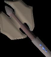Dwarven battleaxe (sapphires) detail