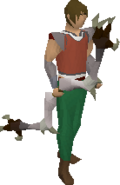 Dark bow (white) equipped