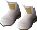 Light tuxedo shoes detail