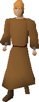 Monk's robes equipped