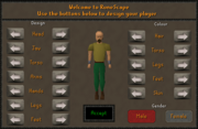 Player customisation interface