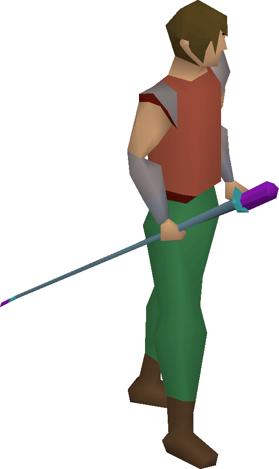 Rune cane equipped