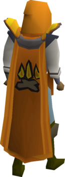 Firemaking cape equipped