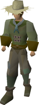 Farmer's outfit (male) equipped