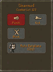 Attack style tab
