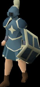 Saradomin armour set (sk) equipped