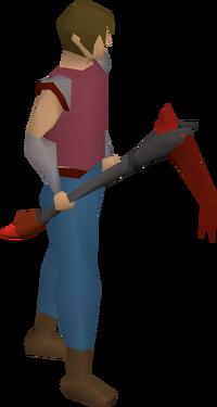 Infernal pickaxe equipped