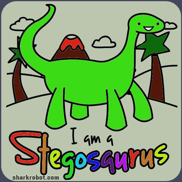 Full resolution  I A Stegosaurus Shirt