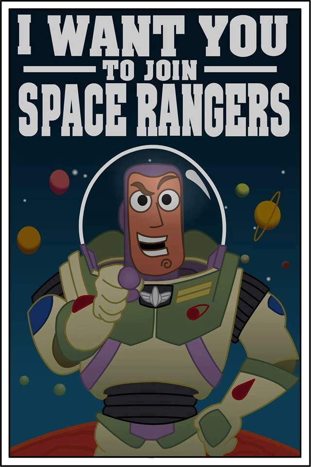 Disney Pixar Monsters University 3 Piece Room In A Box: Toy Story Buzz Lightyear Space Rangers Poster