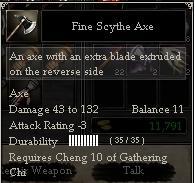 Fine Scythe Axe