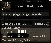 Saw-toothed Wheels