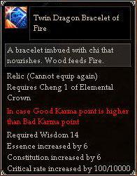 Twin Dragon Bracelet of Fire
