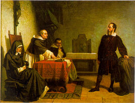 Galileo facing the Roman Inquisition