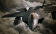 F-22A and FAS in clouds