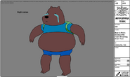 Modelsheet - BearinFinn'sclotheswithtearsstreamingdownface