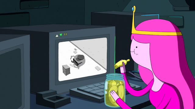 File:S6e15 PB watching CCTV and eating okra.png