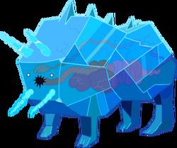 Bull of ice