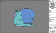 Modelsheet snail withtongueout