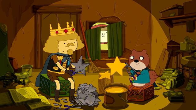 File:S6e26 King of Ooo and Toronto making gold stars.png
