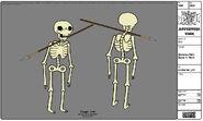Modelsheet Skeleton With Spear In Neck