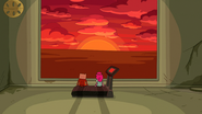S6e23 Finn and PB watching virtual sunset