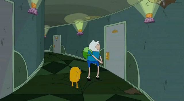 File:S5 e25 Finn and Jake about to bust down a door.PNG