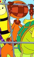 S2e3 Orange Princess in cage